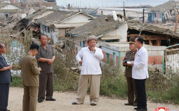 कोरियाका नेता किम जोङ उन आँधी प्रभावित क्षेत्रको भ्रमणमा